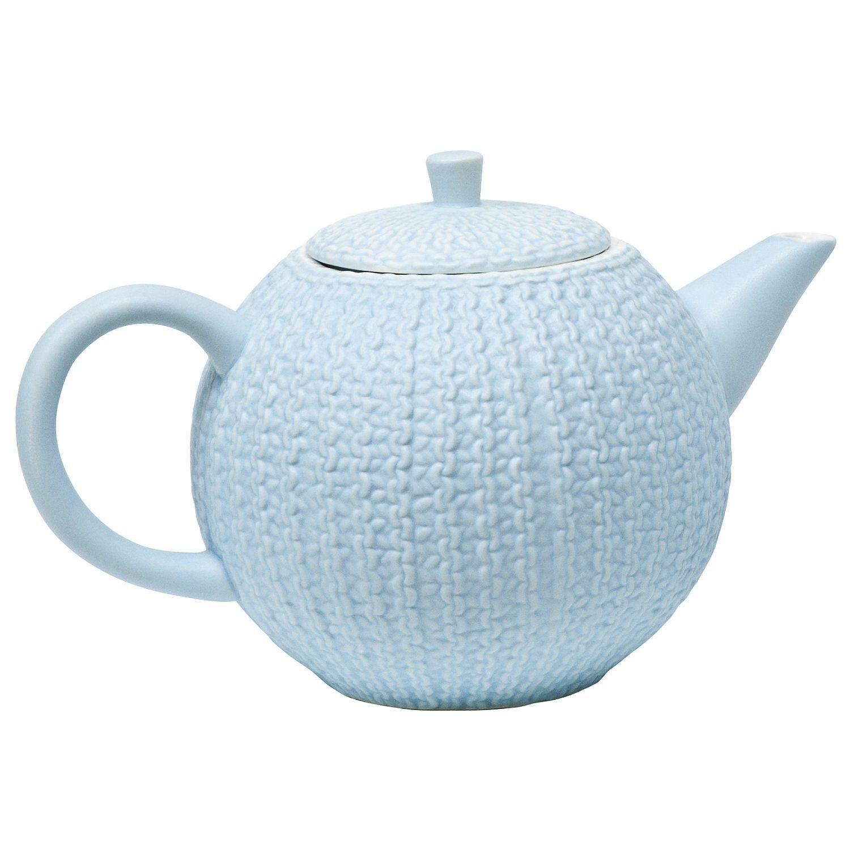 Matte Light Blue Sweater Teapot Tea Pots Light Blue Sweater Stash Tea