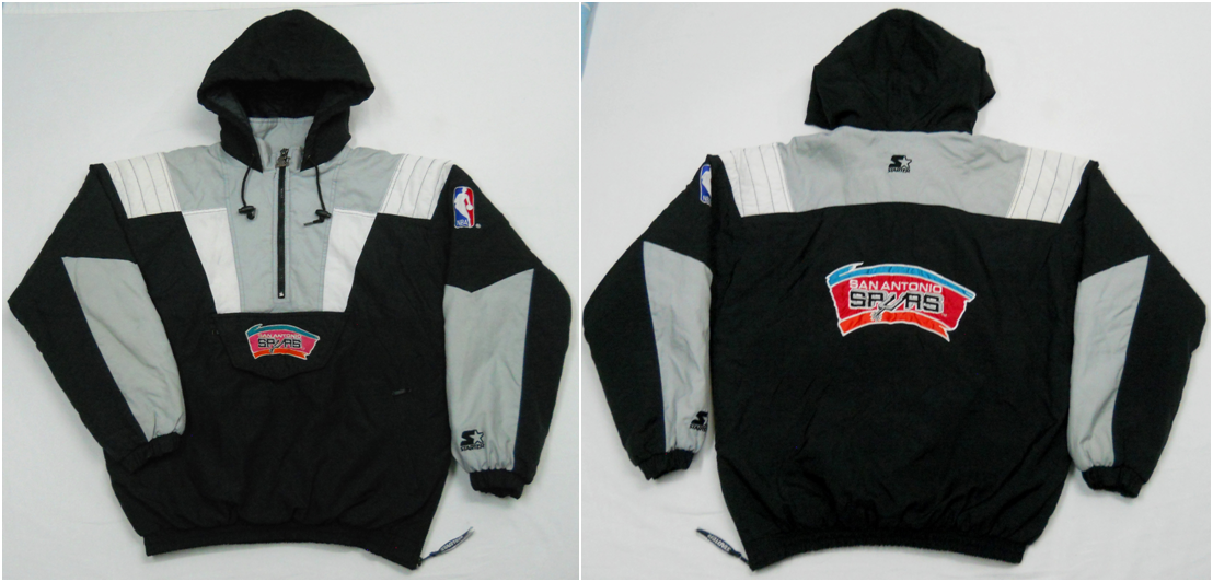 Early 90s San Antonio Spurs Pullover Parka By Starter Men S Xl Pre Owned Jackets Athletic Jacket Mens Xl