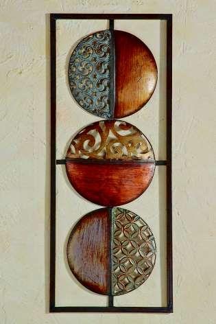 Cool Wanddeko Kreise Wandbild Metall Bild vergr ern Mehr