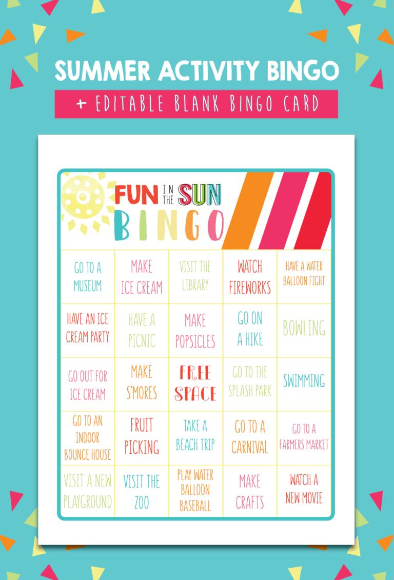 Printable Summer Bucket List + Summer Calendar