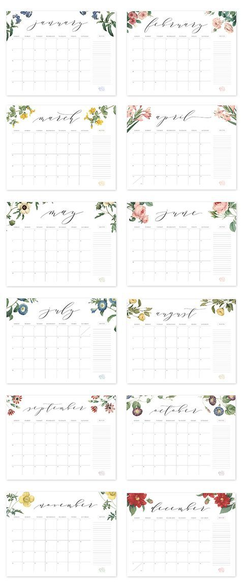 2017 Free Printable Calendar *All Things Art + Hand Lettering + - free office calendar