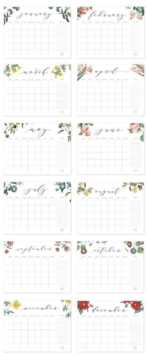 2017 Free Printable Calendar Calendars Pinterest Calendar