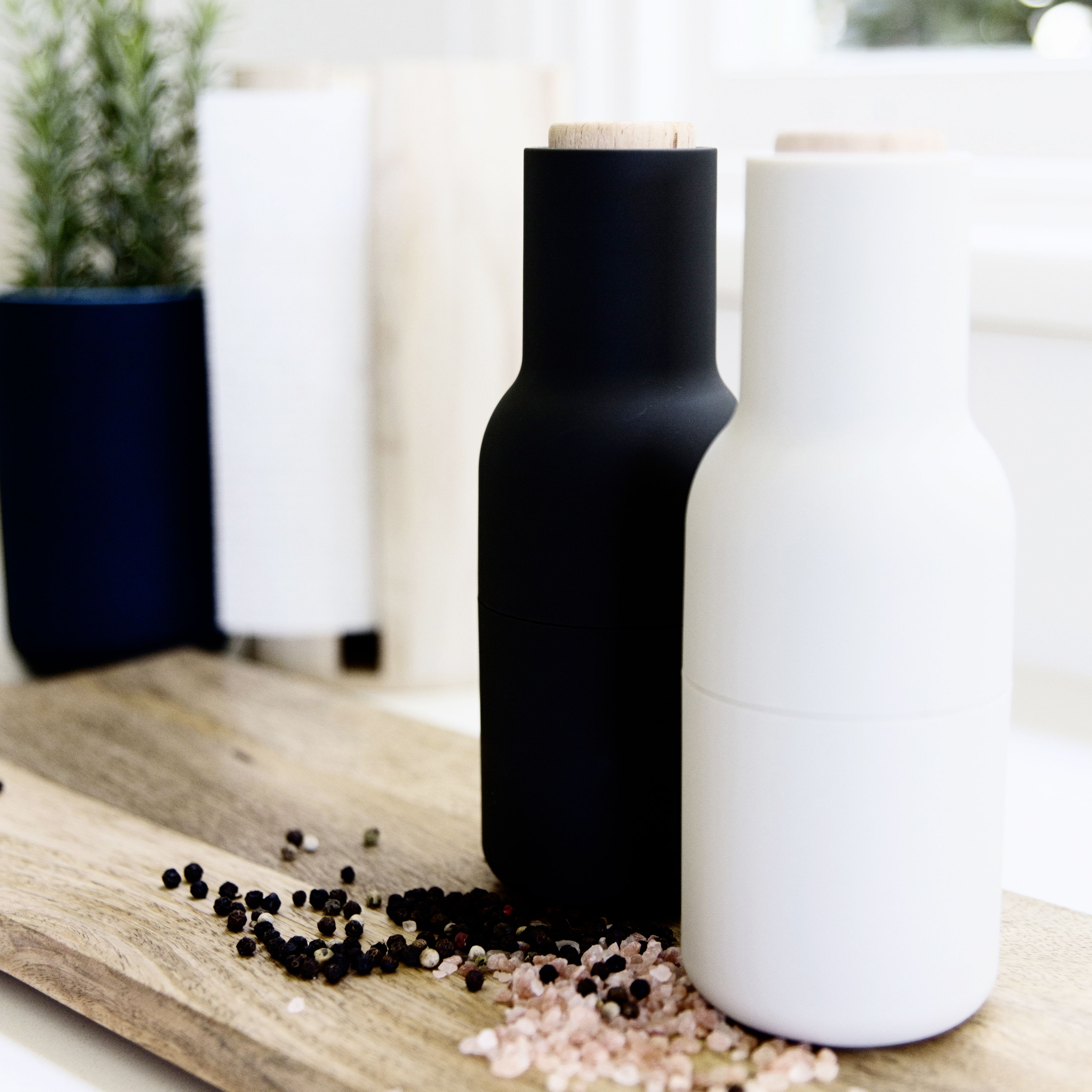 These Menu salt and pepper grinders not only look great...the upside ...