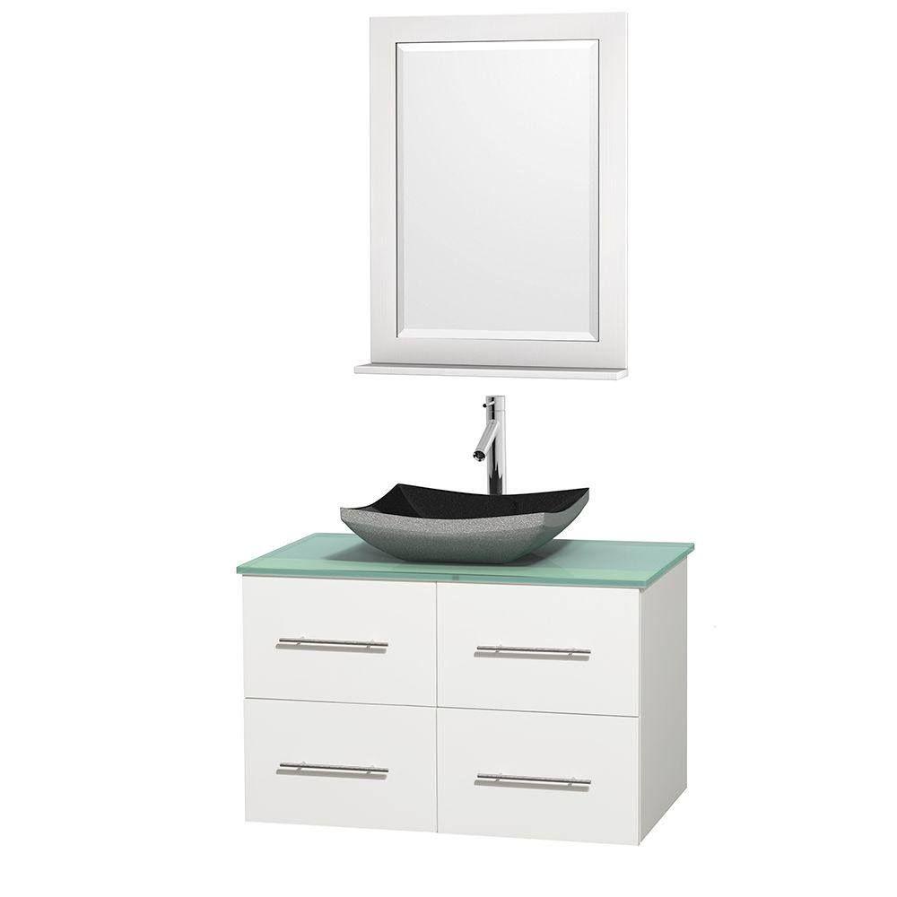 Wyndham Wcvw00936swhgggs1m24 36 In Single Bathroom Vanity In