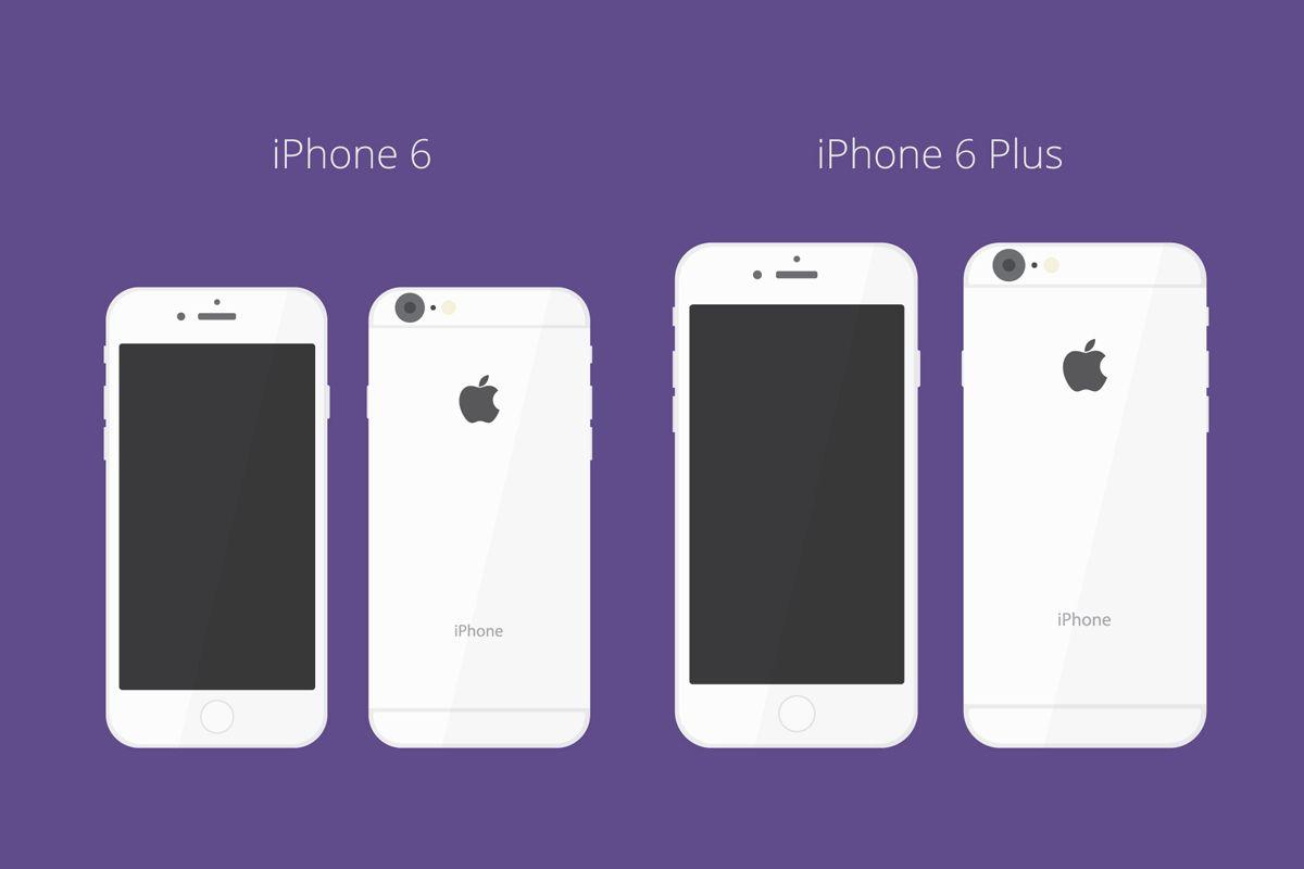 6 poster design photo mockups - Free Flat Iphone 6 Mockup Ai Pixeels Netfree Psds Web Design Freebies