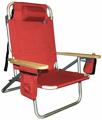 Beach Chair Pillow With Strap Electric Executions Jgr Copa 5 Pos Shoulder Red Top