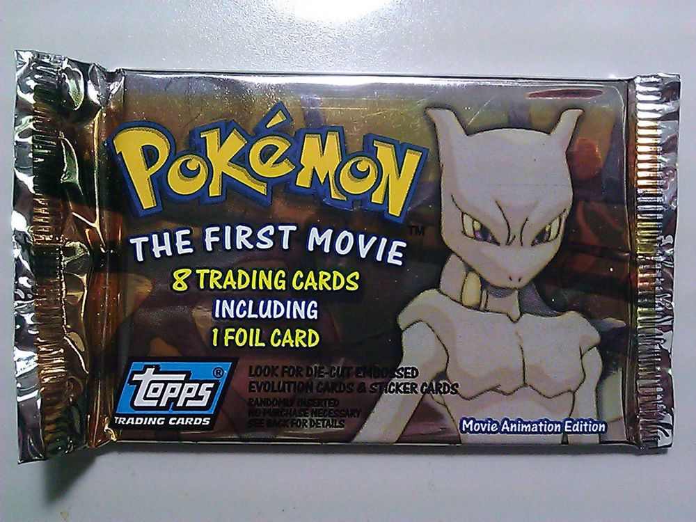 1998 pokeman the first movie unopened pack of 8 topps