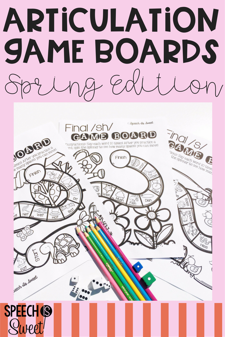 Coloring activities speech therapy - Students Will Love Decorating And Then Playing These Spring Themed Articulation Game Boards These Speech Articulation Gamesspeech Therapy Activitiesgame