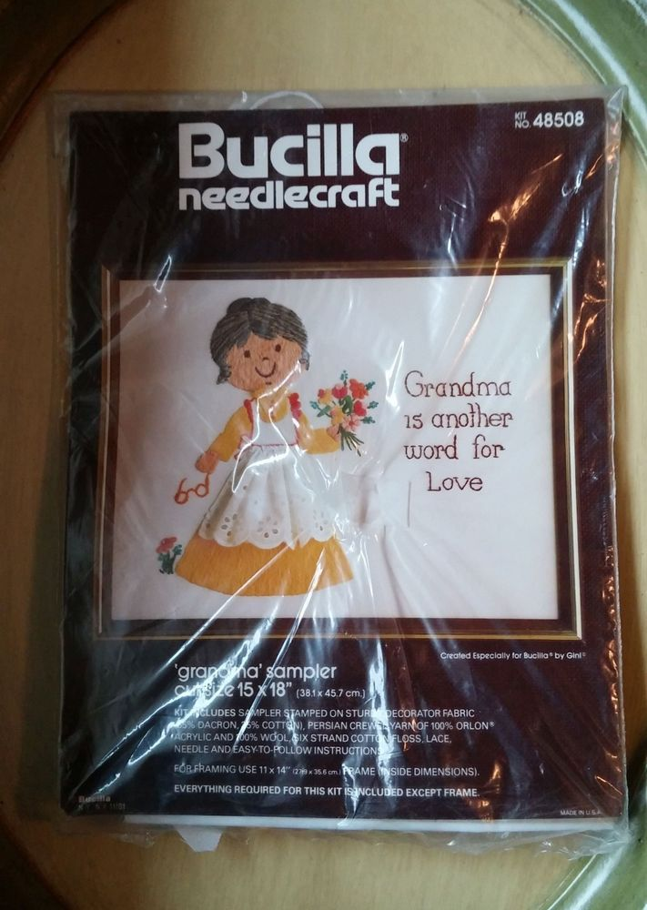 Bucilla Needlecraft Grandma Is Another Word For Love Sampler Kit