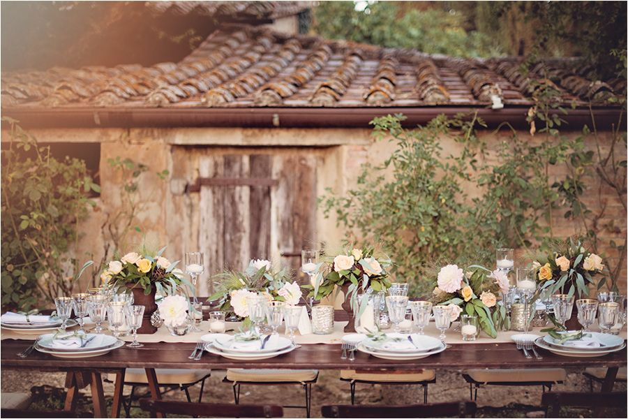 Elegant A Romantic Tuscan Wedding Table
