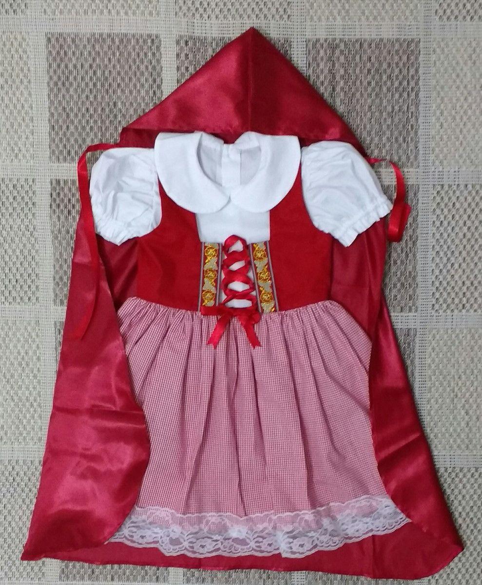Vestido Chapeuzinho Vermelho   Adoleta Ateliê Infantil   Elo7