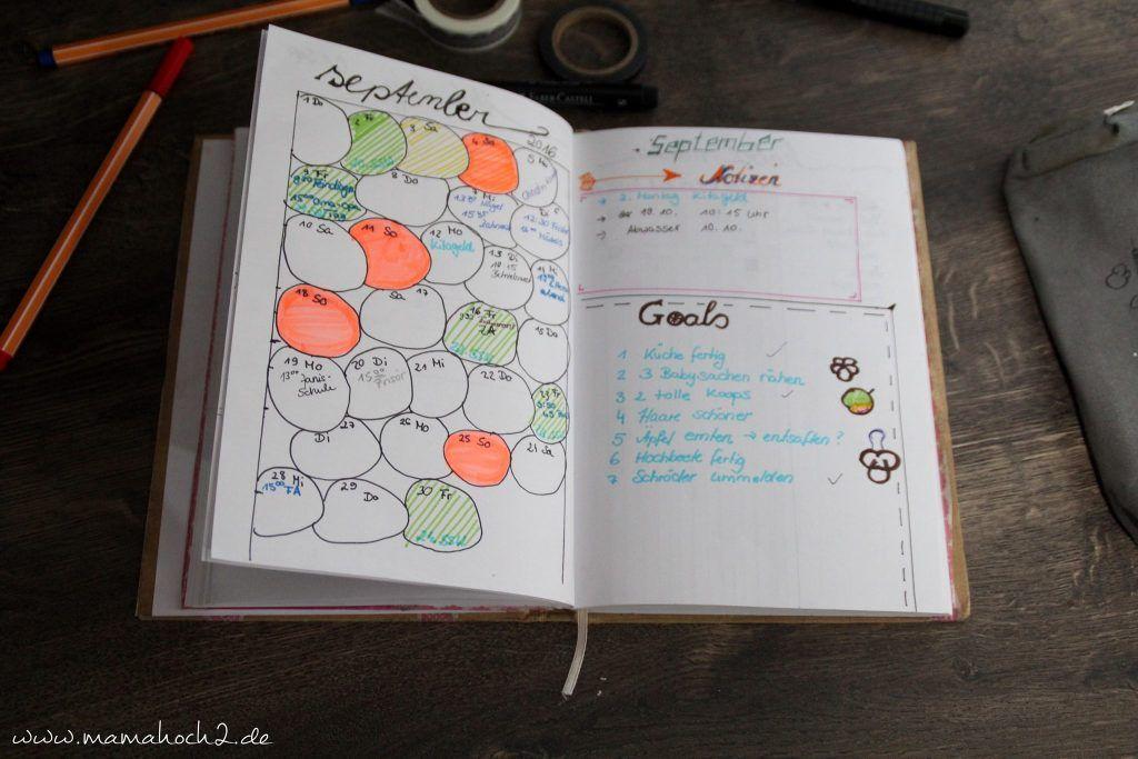 Organizer Selber Machen Bullet Journal Terminplaner Diy Monatsubersicht