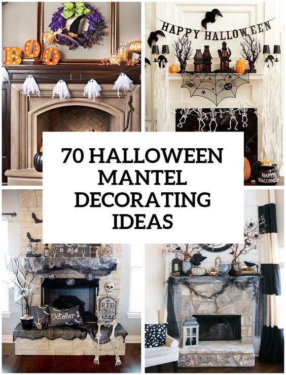70 Great Halloween Mantel Decorating Ideas Everything Halloween - halloween homemade decoration ideas