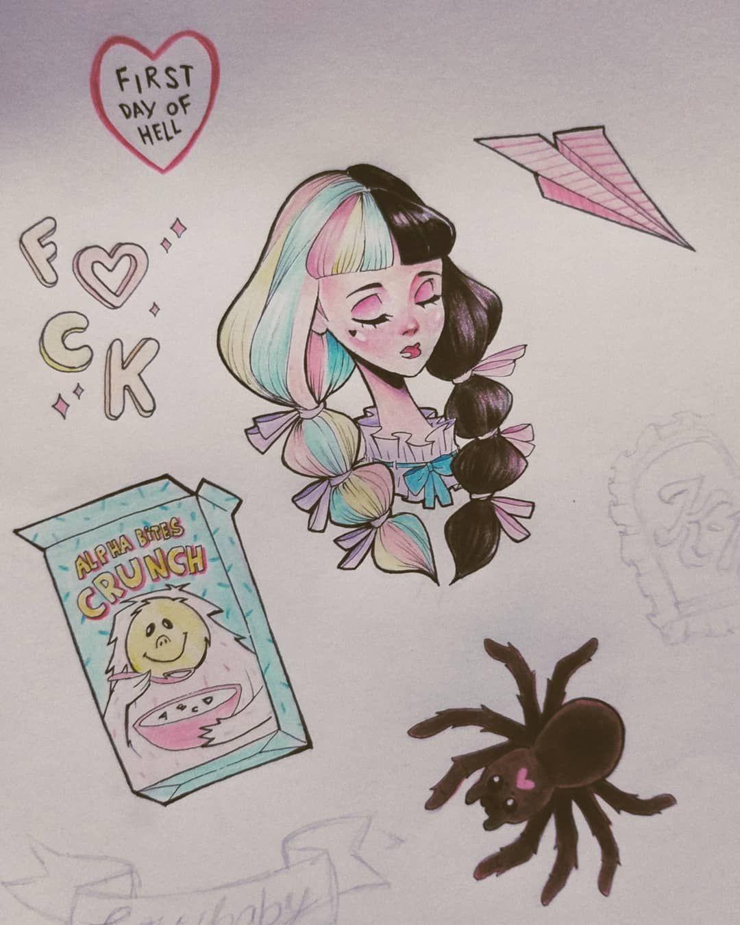 Hey Guys I M Creating Pack Of Sticker Inspired On The Visuals Of K12 I Ll Create 12 Packs Os Stickers Th Melanie Martinez Melanie Martinez Drawings Melanie