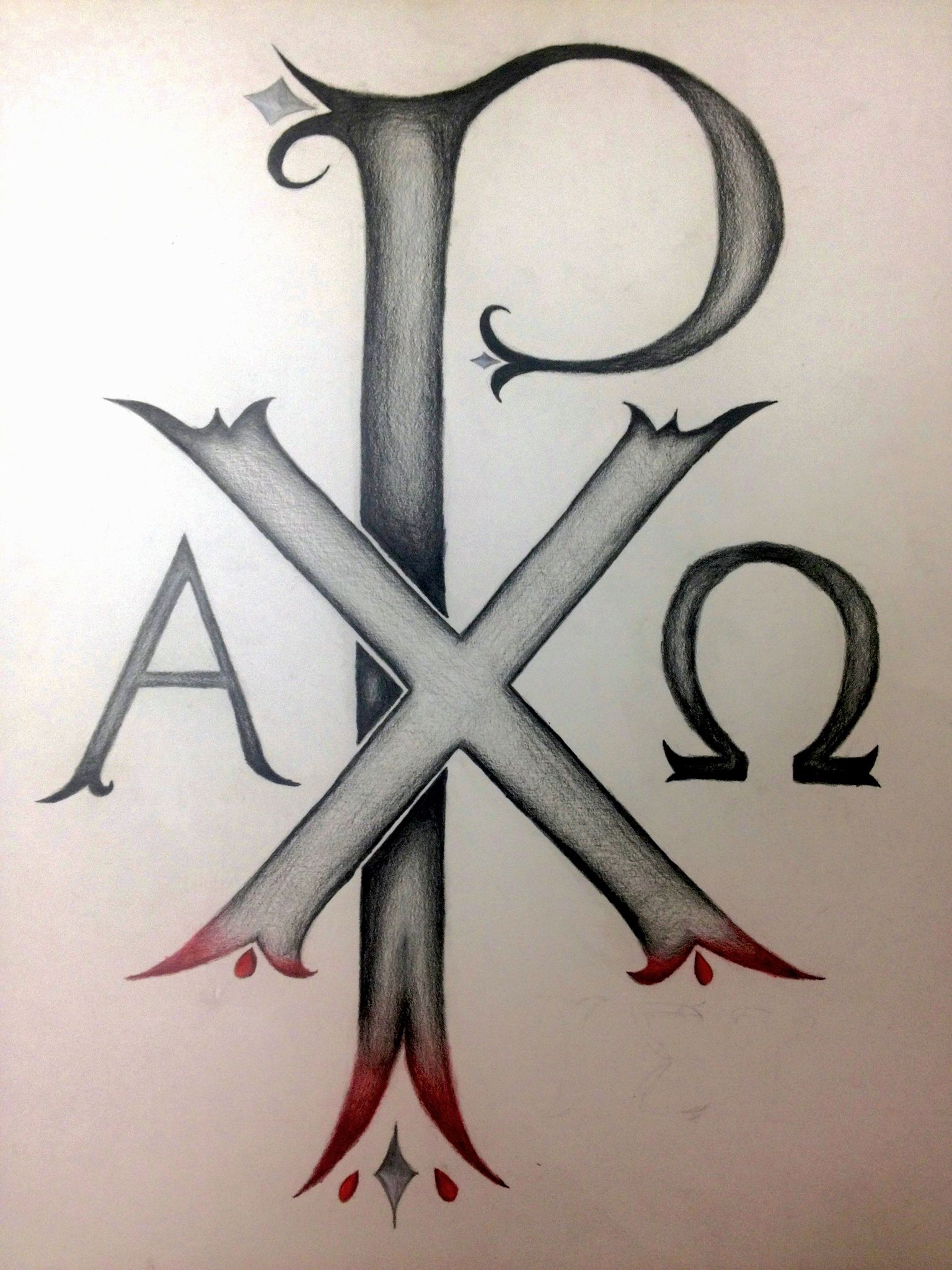 tattoo 1 chi rho the oldest known christogram in existence that begins with alpha and ends. Black Bedroom Furniture Sets. Home Design Ideas