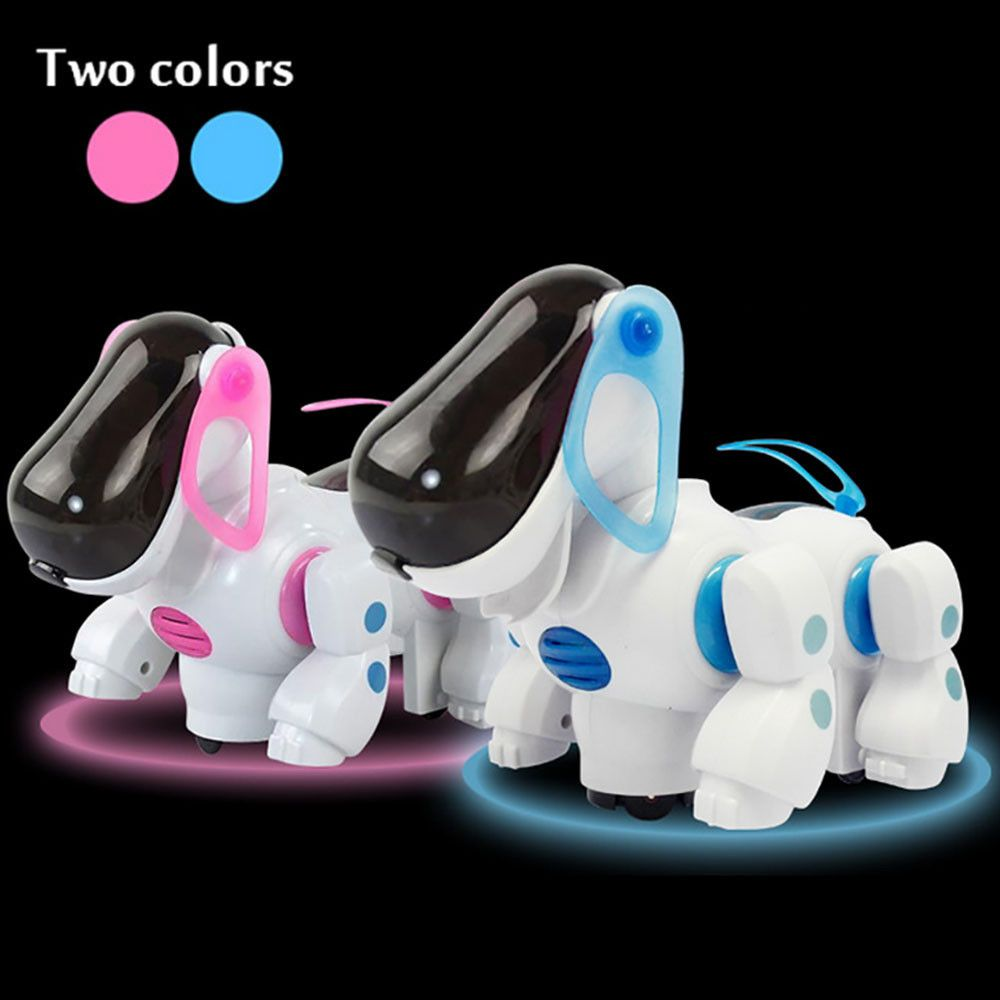 Robotic Electronic Walking Pet Dog Toys Music Light Cute Puppy Baby Kid Toy Nice