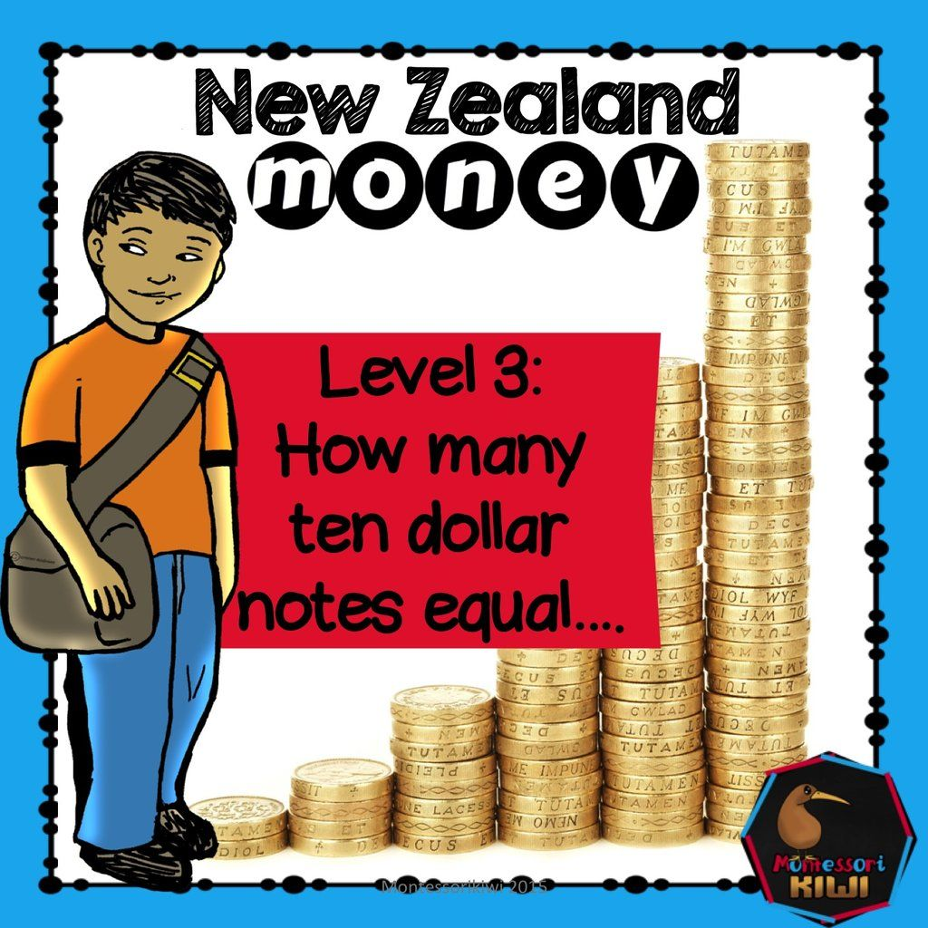 New Zealand Money Level 3 How Many Ten Dollar Notes Equal Dollar Note New Zealand Question Cards Math money worksheets nz