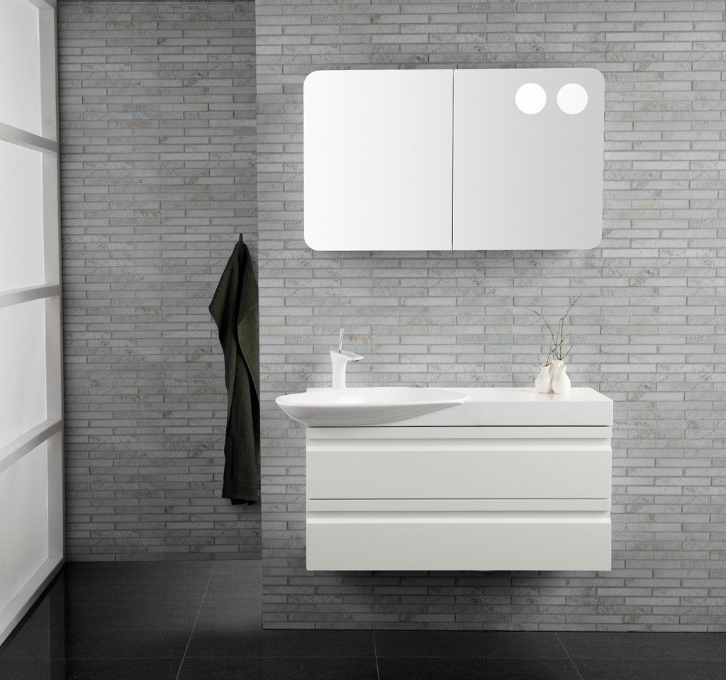 Bathroom Accessories Display dansani zaro furniture in white with cadenza basin - on display in