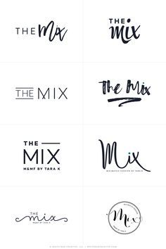 The Mix By Tara - Logos R1 - logo design, wordpress theme, mood ...