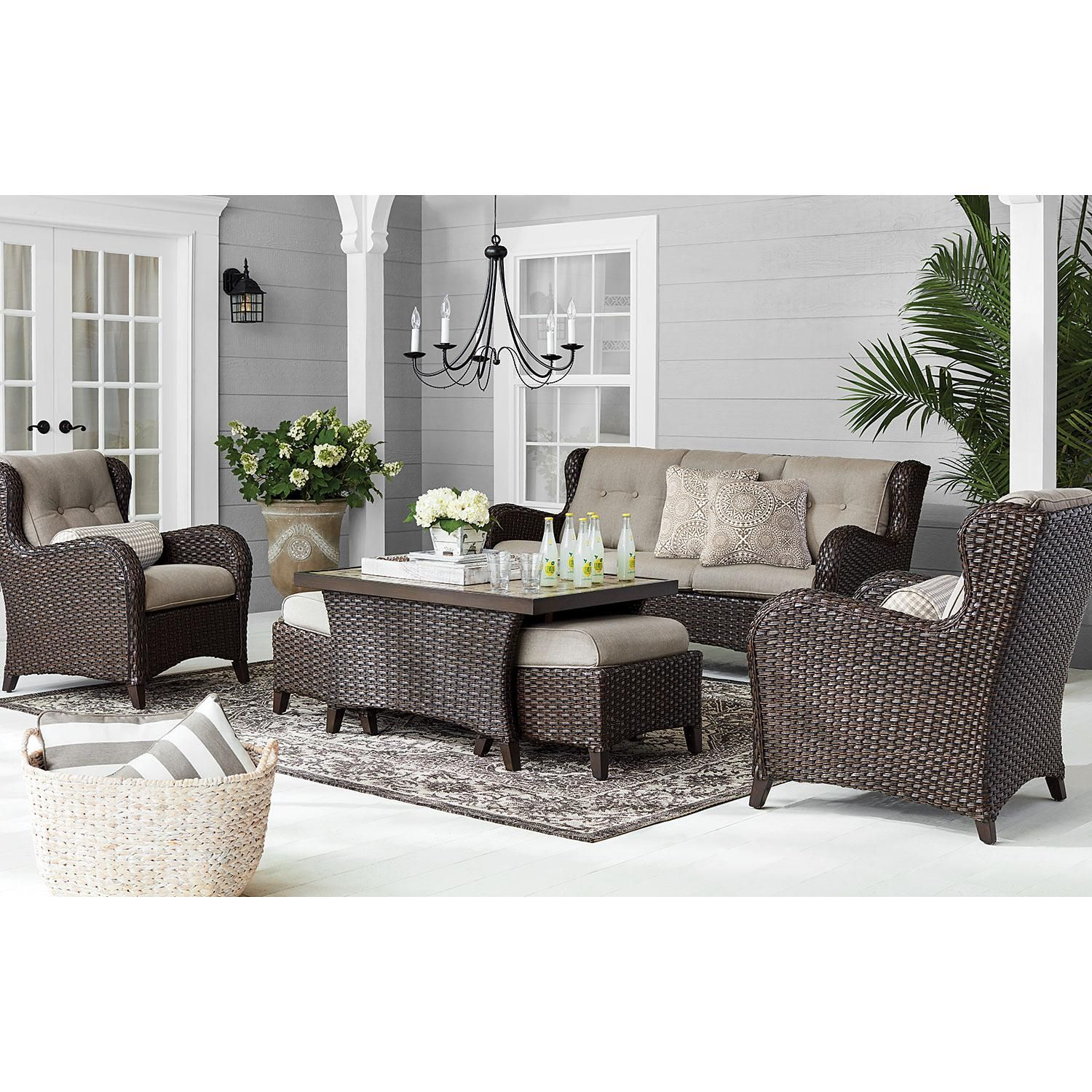 Member's Mark Agio Heritage 6Piece Deep Seating Set with