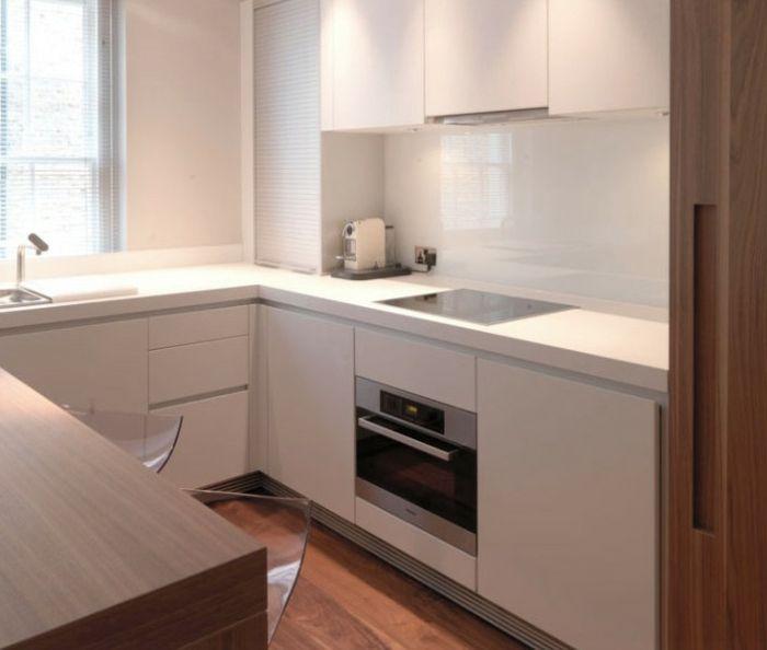 Kleine Küche Helle Küchenschränke Coole Barhocker | Küche/Essen