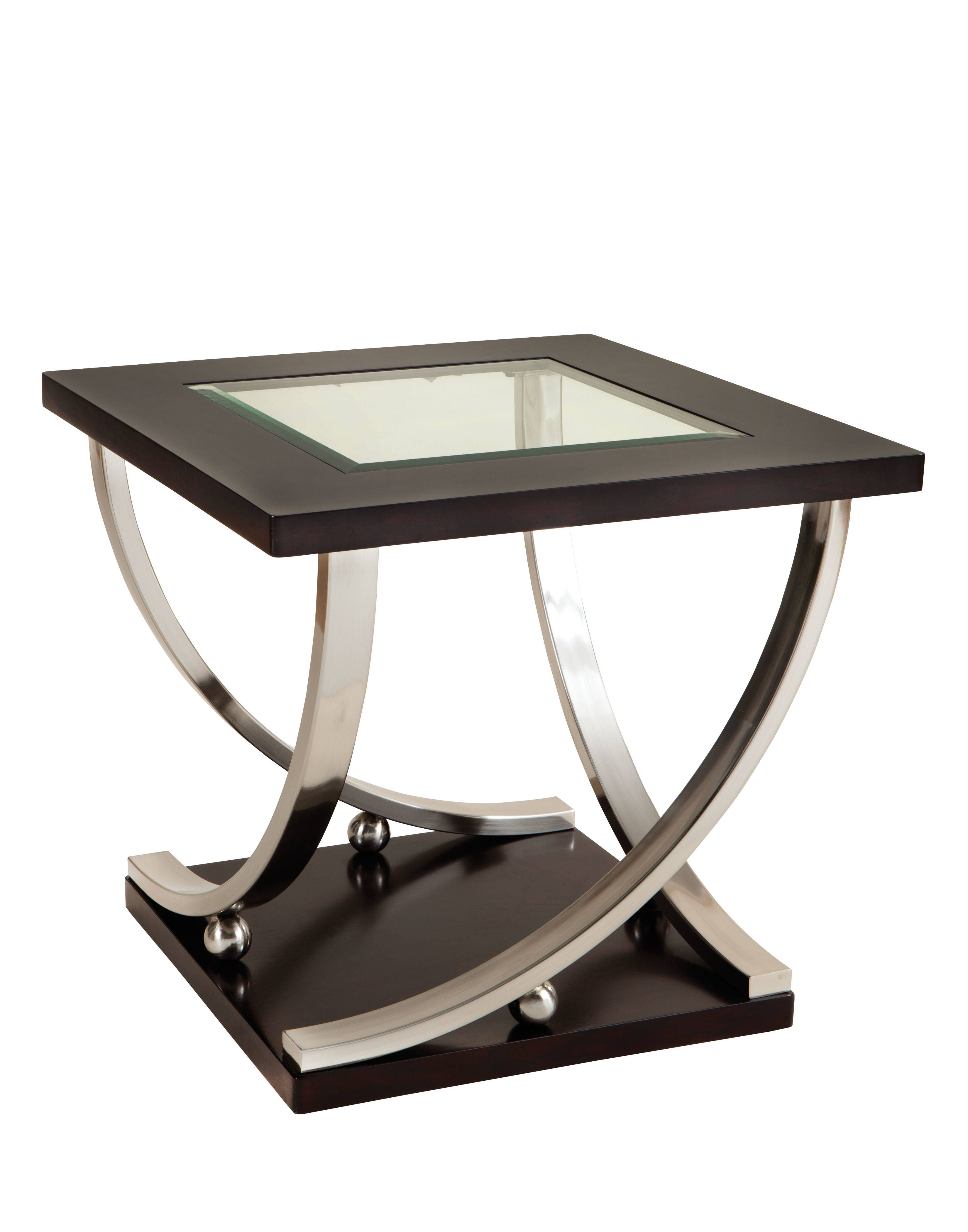 Standard Furniture Melrose Glass End Table | Modern, Glass and Metals