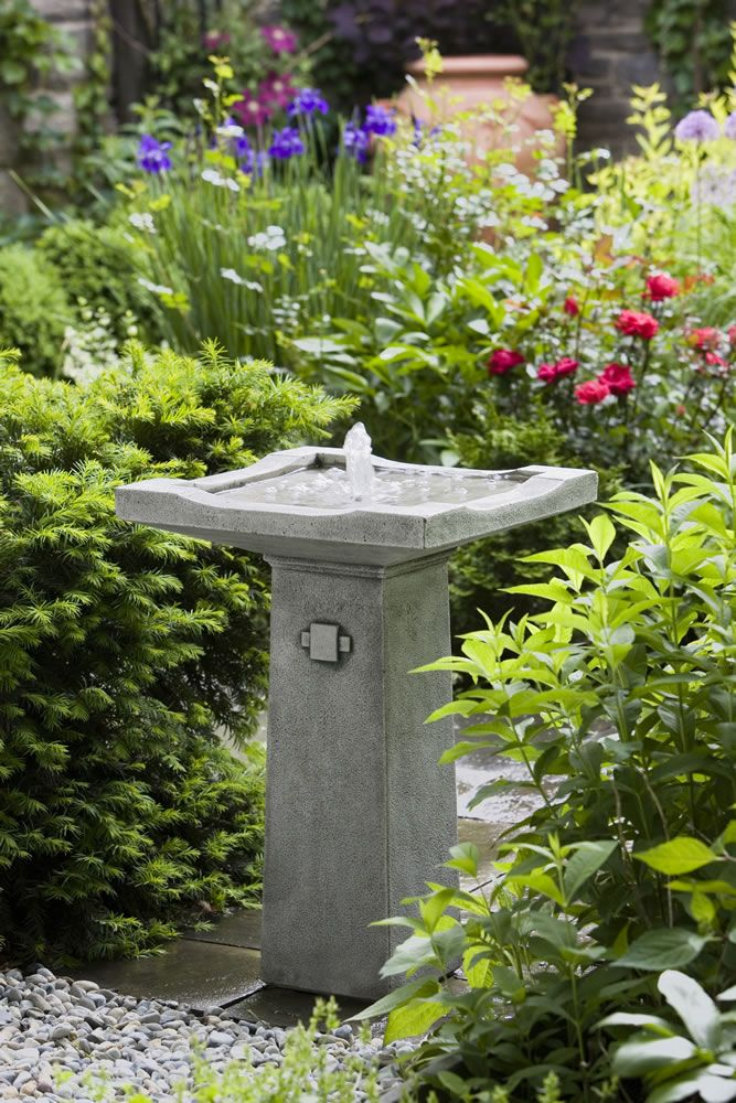 The perfect Pedestal/Birdbath Style Fountain for any Backyard The