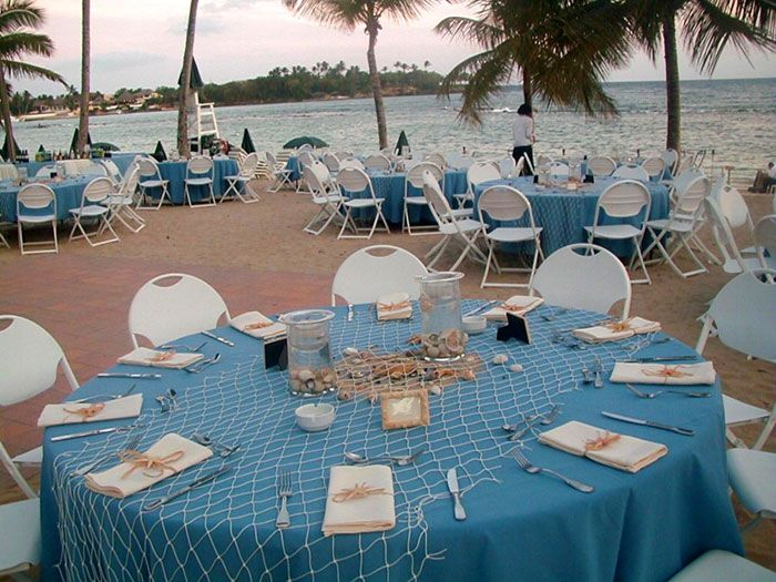 beach themed wedding reception decoration ideas