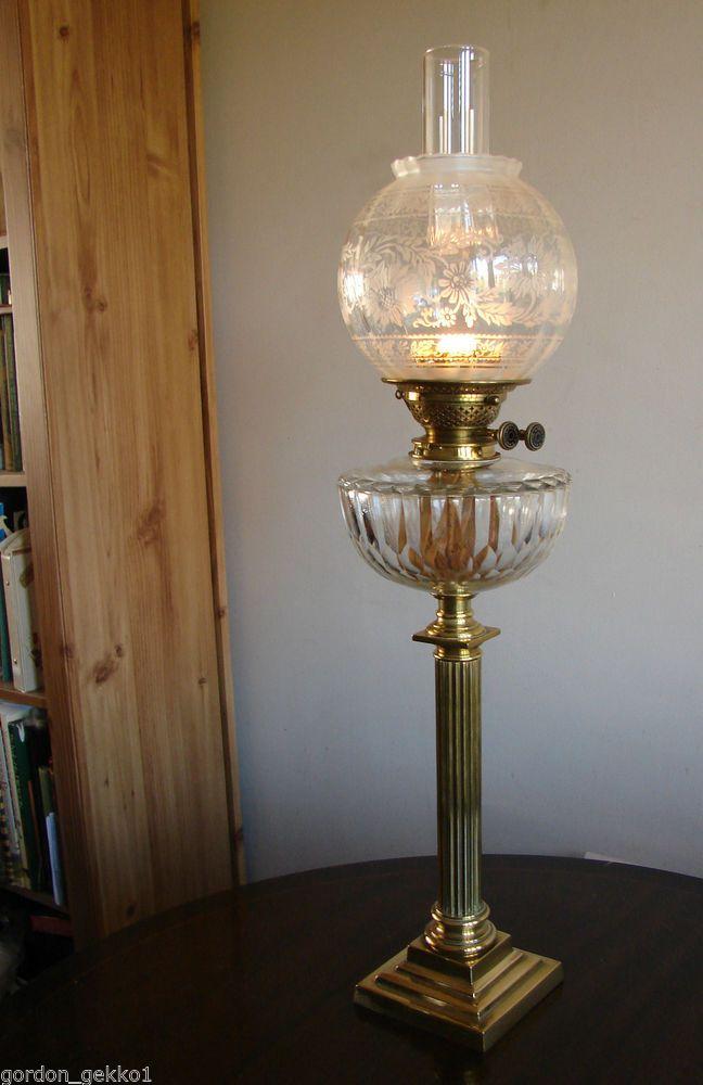 Antique victorian youngs duplex corinthian column table oil lamp antique victorian youngs duplex corinthian column table oil lamp glass shade aloadofball Choice Image