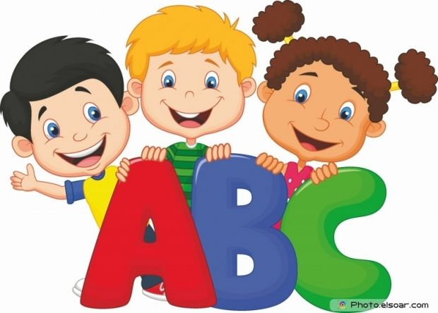 School Kids With Abc Kids School Kids Education Cartoon Kids