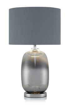 Smoke Ombre Glass Table Lamp Next Home 49 X 30 45 Table Lamp