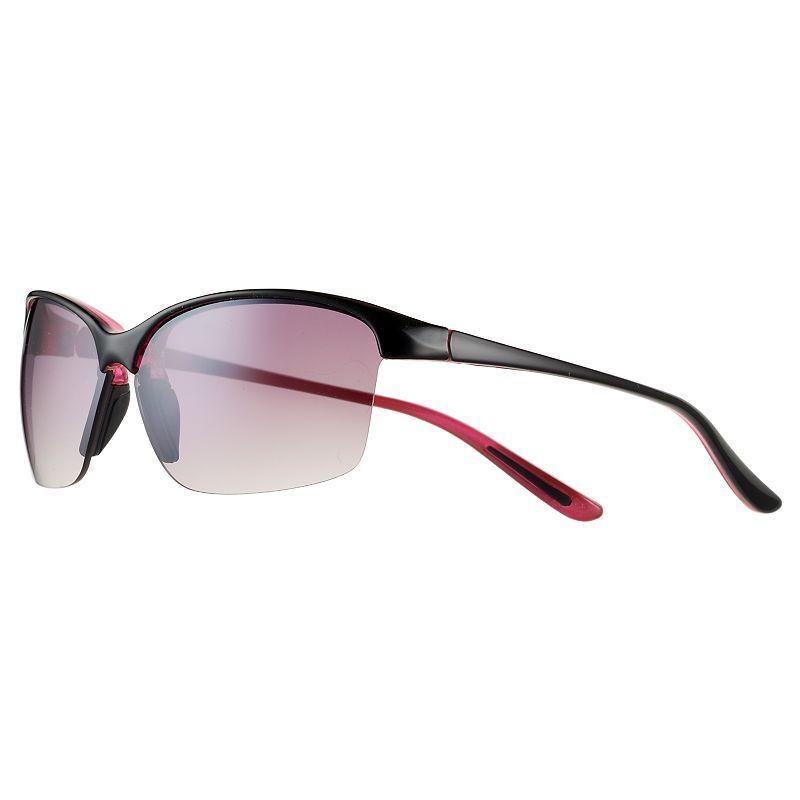 60601d9d9c7 Women s FILA Sport® Black Semi-Rimless Rectangle Sport Sunglasses ...
