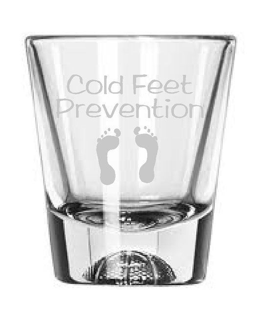 Cold feet prevention etched wedding shot glass by theyardbarnshop cold feet prevention etched wedding shot glass by theyardbarnshop 850 junglespirit Image collections