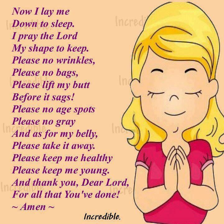 Now I Lay Me Prays The Lord Bedtime Prayer Funny Quotes