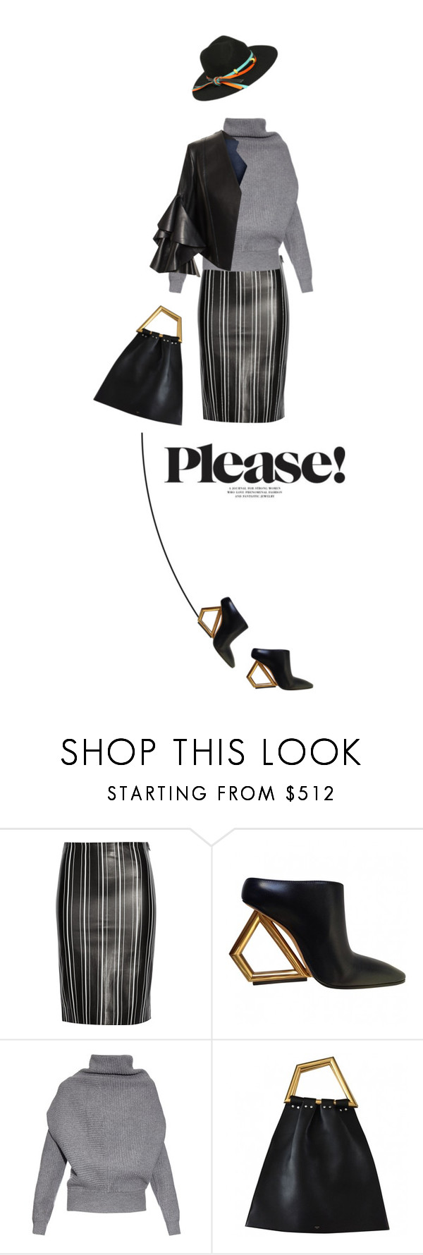 """""""Oh! CELÍNE (bag+shoes)"""" by vinograd24 ❤ liked on Polyvore featuring Title A, Acne Studios and Alexander McQueen"""