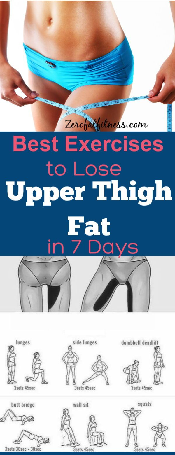 Easy Exercises to Lose Upper Thigh Fat in 7 Days at Home #weightloss