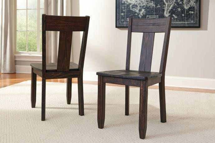 Ashley Trudell D658 Dining Room Set 7pcs Rect Ext Table In Dark