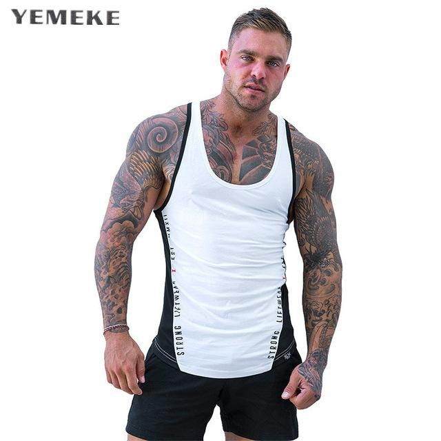 d7786f65303 Men Summer gyms Fitness bodybuilding Hooded Tank Top fashion men Cross fit  clothing Loose breathable sleeveless shirts Vest