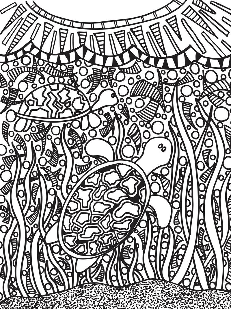 Abstract Doodles Coloring Book 2 (Sealife Doodles). $7.00, via Etsy ...