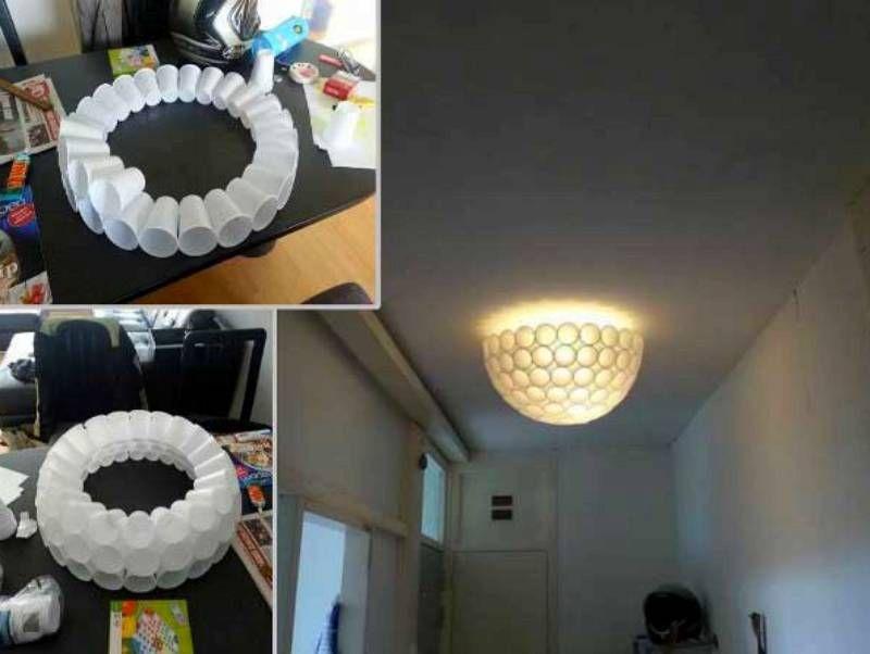30 Ideas De Lámparas Caseras Fáciles De Hacer Manuales Y Tutoriales Lámpara Araña Casera Lámparas Caseras Diy Luz