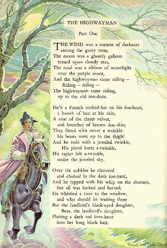 the story of the highwayman poem