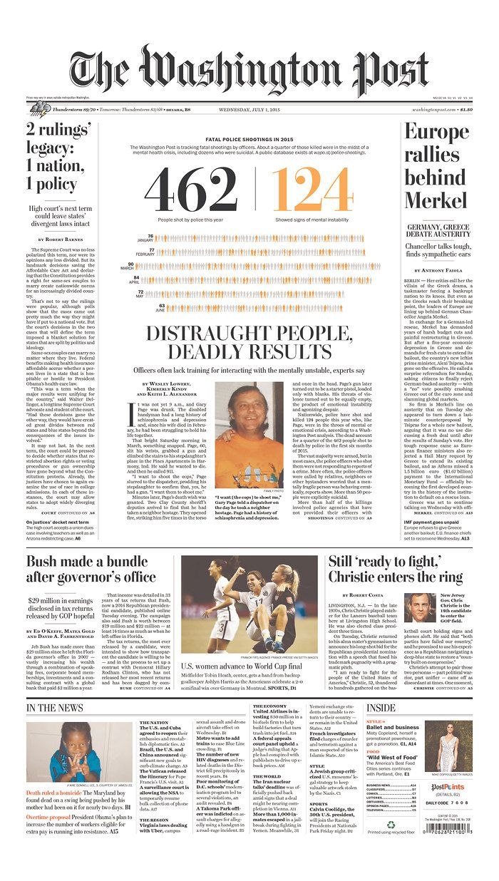 the washington post for july 1 2015 via today s front on wall street journal online id=65650