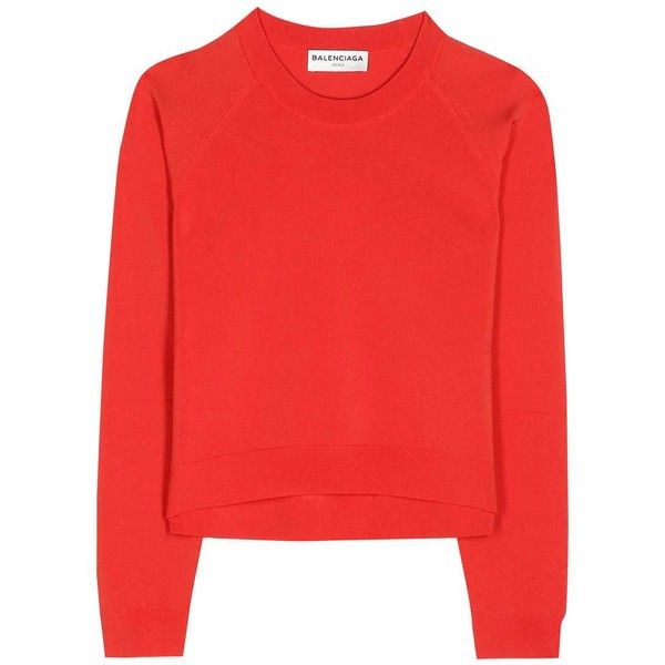 Balenciaga Cropped Sweater ($560) ❤ liked on Polyvore featuring ...