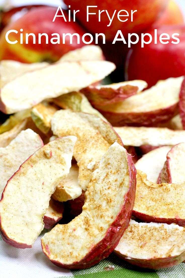Air Fryer Cinnamon Apples Recipe Apple recipes, Cinnamon