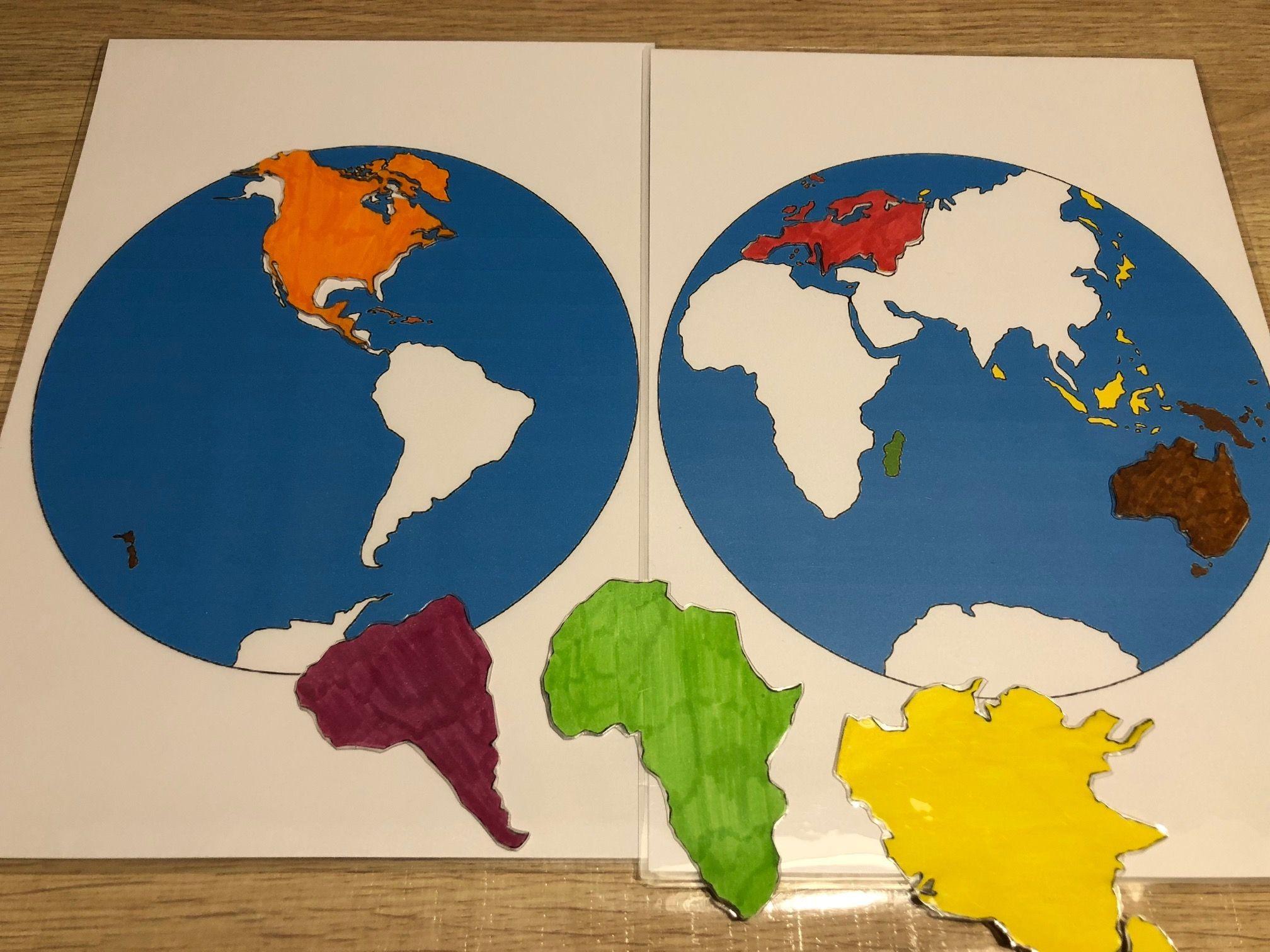 "Sympa 6/"" GLOBE TERRESTRE carte avec Continents Pays des Océans Animaux-Neuf"