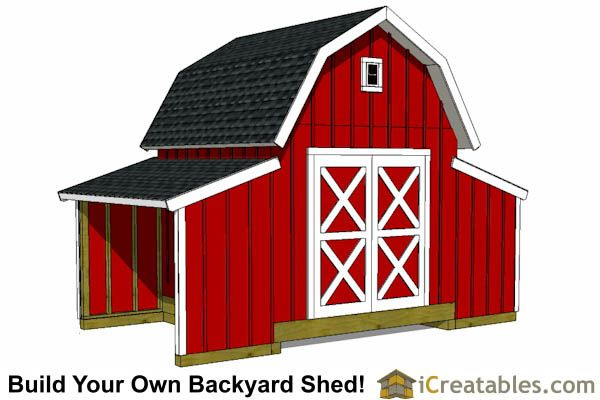 10x18 Raised Center Aisle Shed Barn Barn House Design Shed Design Small Barns