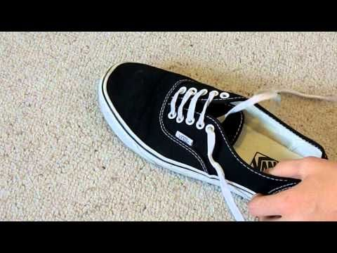 How to Bar Lace Vans (hidden knot) video | How to lace vans ...