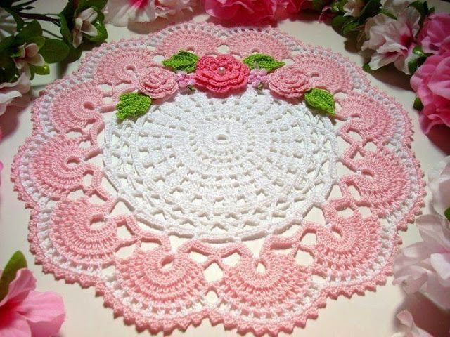 How to Make Crochet Table Towel - Crochet Designs Free | Tapetes o ...
