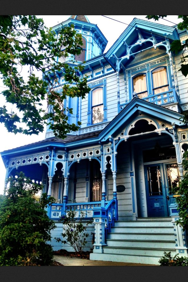 Nice Bold Blue Wonderful Victorian Style Homes Victorian