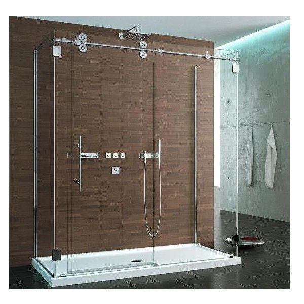 Glass showers sided symmetry kinetik hardware for Bathtub shower doors hardware